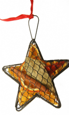 Hanging Metal Mesh Case: Star (3 colours available)